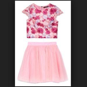 Miss Behave Pink Floral Tutu Matching Set